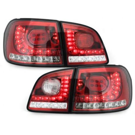 LAMPY TYLNE LITEC VW GOLF V/VI + PLUS 05+ CZERWONE/PRZEŹROCZYSTE