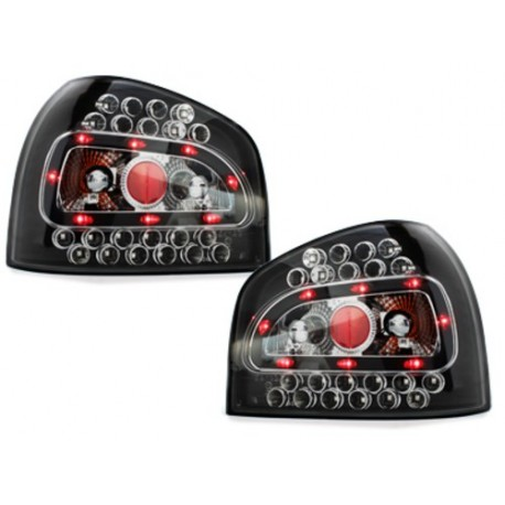 LAMPY TYLNE LED AUDI A3 8L 09.96-04 CZARNE