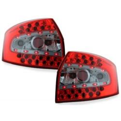 LAMPY TYLNE LED AUDI A4 8E SEDAN 01-04 CZERWONE / PRZEŹROCZYSTE