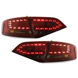 LAMPY TYLNE LED AUDI A4 B8 8K SEDAN 07+ CZERWONE / DYMIONE
