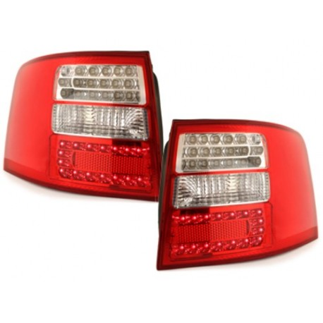 LAMPY TYLNE LED AUDI A6 AVANT 4B 12.97-01.05 CZERWONE / PRZEŹROCZYSTE