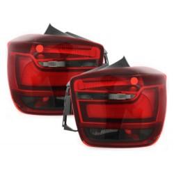 LAMPY TYLNE LED BMW 1 F20 11+ CZERWONE / DYMIONE