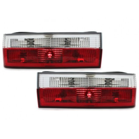 LAMPY TYLNE BMW E30 83-08.87 CZERWONE / PRZEŹROCZYSTE
