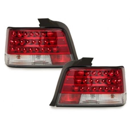 LAMPY TYLNE LED BMW E36 SEDAN 92-98 CZERWONE / PRZEŹROCZYSTE