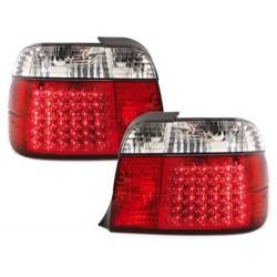 LAMPY TYLNE LED BMW E36 COMPACT 92-98 CZERWONE / PRZEŹROCZYSTE