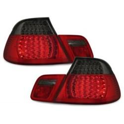 LAMPY TYLNE LED BMW E46 COUPE 98-03 CZERWONE / DYMIONE