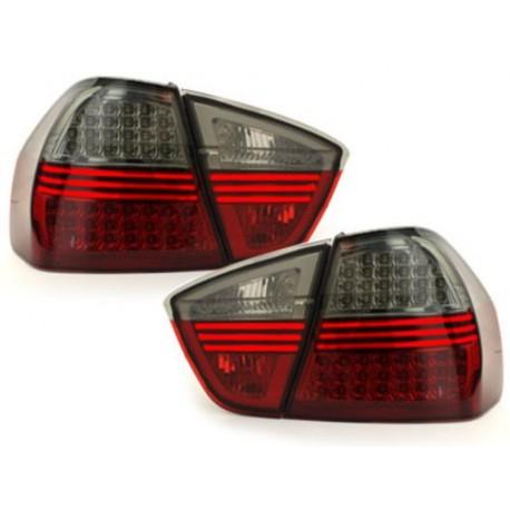 LAMPY TYLNE LED BMW E90 SEDAN 05-09.08 CZERWONE / DYMIONE
