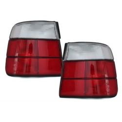 LAMPY TYLNE BMW 5 E34 SEDAN 85-95 CZERWONE / PRZEŹROCZYSTE