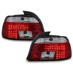 LAMPY TYLNE LED BMW 5 E39 SEDAN 95-00 CZERWONE / PRZEŹROCZYSTE