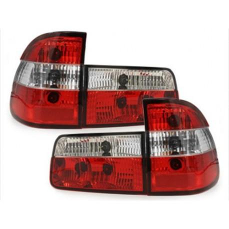 LAMPY TYLNE BMW 5 E39 TOURING 95-00 CZERWONE / PRZEŹROCZYSTE