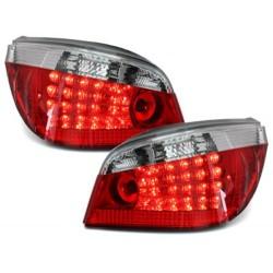 LAMPY TYLNE LED BMW 5 E60 04-07 CZERWONE / PRZEŹROCZYSTE