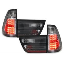 LAMPY TYLNE LED BMW X5 00-02 CZARNE