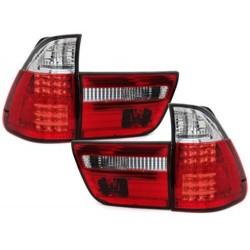 LAMPY TYLNE LED BMW X5 00-02 CZERWONE / PRZEŹROCZYSTE