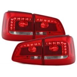 LAMPY TYLNE LED VW TOURAN 2011+ CZERWONE / PRZEŹROCZYSTE