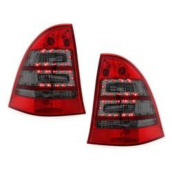 LAMPY TYLNE LED MERCEDES BENZ C W203 00-12/04 KOMBI CZERWONE / DYMIONE