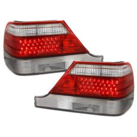 LAMPY TYLNE LED MERCEDES BENZ W140 S-KLASSE 97-99 CZERWONE / PRZEŹROCZYSTE