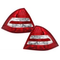 LAMPY TYLNE LED MERCEDES BENZ C W203 04-05 CZERWONE / PRZEŹROCZYSTE