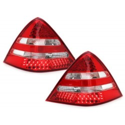 LAMPY TYLNE LED MERCEDES BENZ SLK R170 00-04 CZERWONE / PRZEŹROCZYSTE
