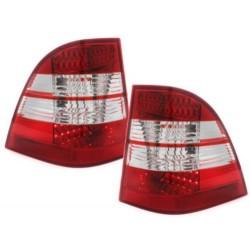 LAMPY TYLNE LED MERCEDES BENZ W163 M-KLASSE  CZERWONE / PRZEŹROCZYSTE