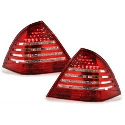 LAMPY TYLNE LED MERCEDES BENZ W203 C-KLASA 00-04  CZERWONE / PRZEŹROCZYSTE