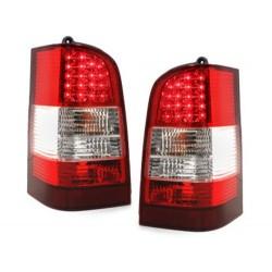 LAMPY TYLNE LED MERCEDES BENZ W638 VITO 96-03 CZERWONE / PRZEŹROCZYSTE