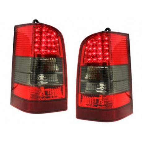 LAMPY TYLNE LED MERCEDES BENZ W638 VITO 96-03 CZERWONE / DYMIONE