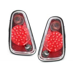 LAMPY TYLNE LED MINI ONE/COOPER 04-06 CZERWONE / PRZEŹROCZYSTE