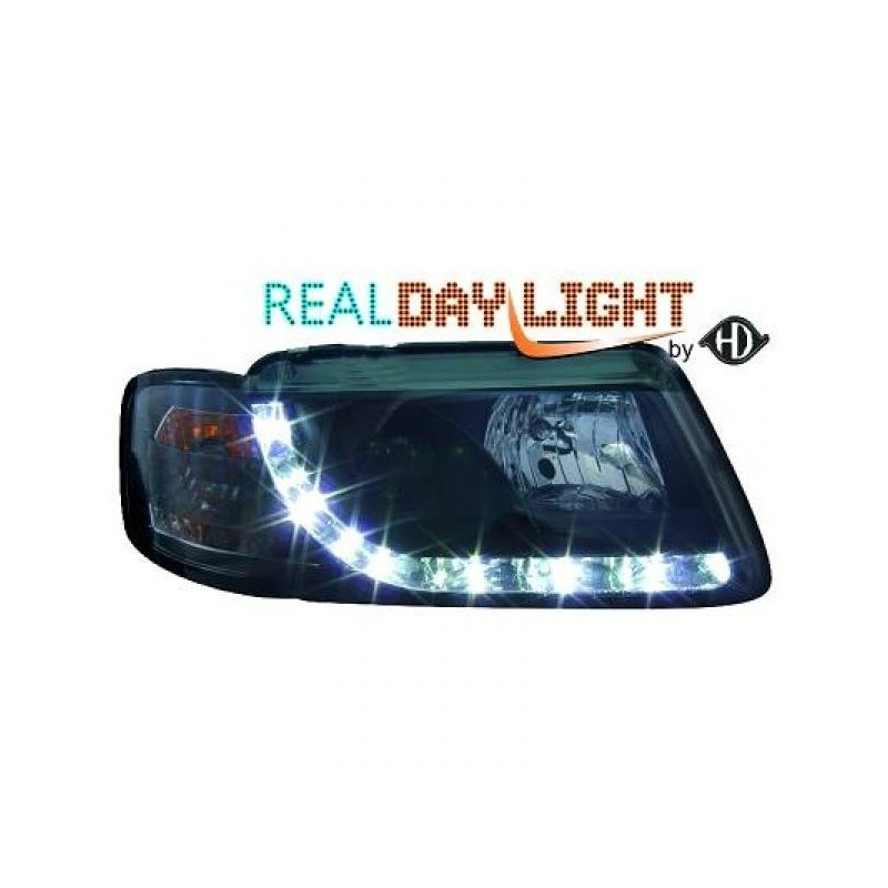 Drl Reflektory Tuningowe Zestaw Audi A3 8l Czarne