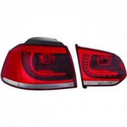 LAMPY TYLNE LED ZESTAW VW GOLF 6 GTI LOOK CZERWONE / PRZEŹROCZYSTE