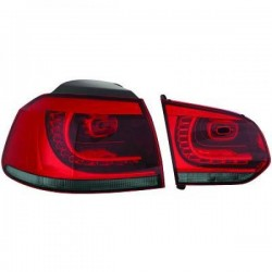 LAMPY TYLNE LED ZESTAW VW GOLF 6 GTI LOOK CZERWONE / DYMIONE