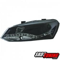 REFLEKTORY TUNINGOWE ZESTAW VW POLO 6R  10-14 CZARNE