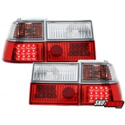 LAMPY TYLNE LED VW CORRADO 88-95 CZERWONE / PRZEŹROCZYSTE