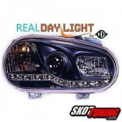 DRL REFLEKTORY VW GOLF IV 98-02 CZARNE