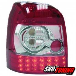 LAMPY TYLNE LED AUDI A4 B5 AVANT 94-00 CZERWONE / PRZEŹROCZYSTE