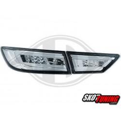 LAMPY TYLNE LED RENAULT CLIO IV 2013+  CHROM / PRZEŹROCZYSTE