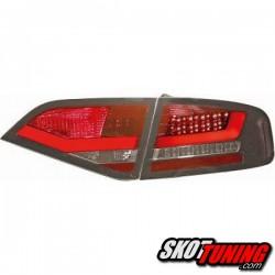 LAMPY TYLNE LED AUDI A4 B8 SEDAN 07-11 CZERWONE / CZARNE
