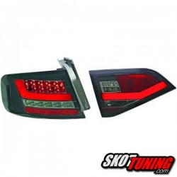 LAMPY TYLNE LED AUDI A4 B8 SEDAN 07-11 CZARNE / DYMIONE