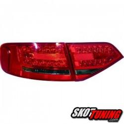 LAMPY TYLNE LED AUDI A4 B8 SEDAN 07-11 CZERWONE / DYMIONE