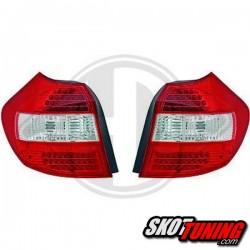 LAMPY TYLNE LED BMW 1 E87 04-03.07 CZERWONE / PRZEŹROCZYSTE