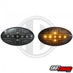 KIERUNKOWSKAZY BOCZNE LED MINI COOPER / S / JCW / R50 / R53 01-06 CZARNE