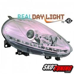 DRL REFLEKTORY FIAT PUNTO EVO 09-12 CHROM