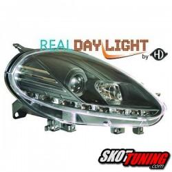 DRL REFLEKTORY FIAT PUNTO EVO 09-12 CZARNE
