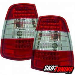 LAMPY TYLNE LED MERCEDES BENZ W124 E-KLASA KOMBI 84-95 CZERWONE / PRZEŹROCZYSTE