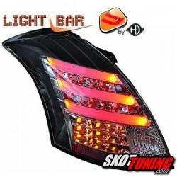 LAMPY TYLNE LED SUZUKI SWIFT 10+ CZARNE / DYMIONE