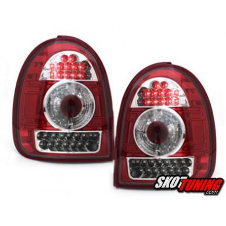 LAMPY TYLNE LED OPEL CORSA B 03.93-03.01 CZERWONE / PRZEŹROCZYSTE
