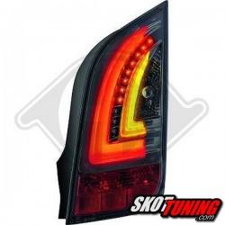 LAMPY TYLNE LED VW UP / SKODA CITIGO 11+  CZARNE / DYMIONE