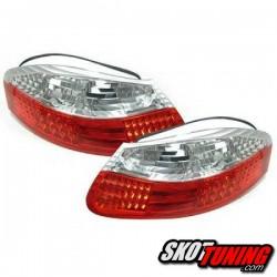 LAMPY TYLNE LED PORSCHE BOXSTER 986 96-04 CZERWONE / PRZEŹROCZYSTE