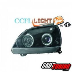 REFLEKTORY CCFL RENAULT CLIO II 01-05 RINGI CZARNE