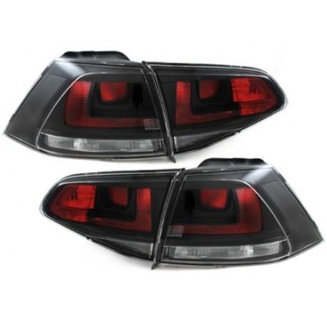 LAMPY TYLNE VW GOLF VII +13 CZARNE