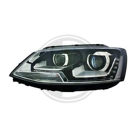 DRL REFLEKTORY VW JETTA  10-13 CZARNE